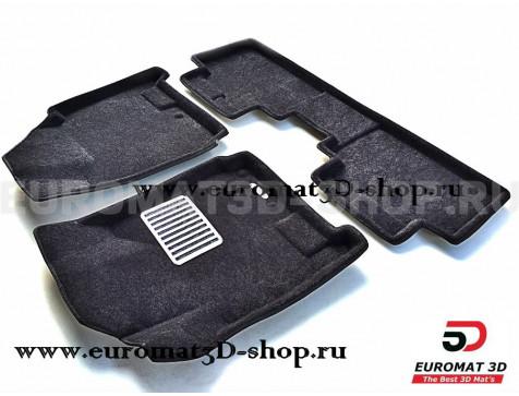 Текстильные 3D коврики Euromat3D Lux в салон для Cadillac SRX (2010-2015) № EM3D-001304