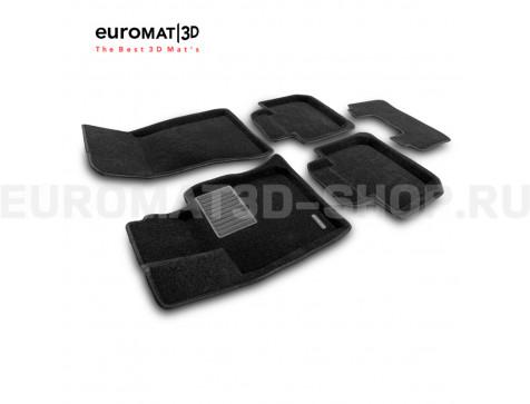 Текстильные 3D коврики Euromat3D Premium в салон для Bmw 6 GT (G32) (2017-) № EMPR3D-001207