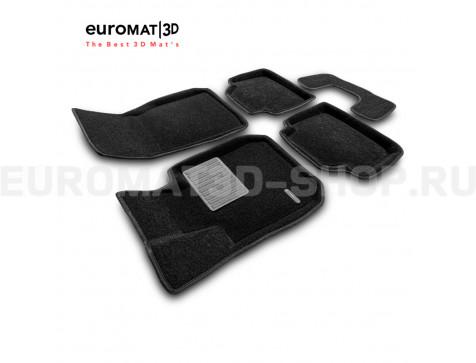 Текстильные 3D коврики Euromat3D Premium в салон для Bmw 3 (F30) (2010-2018) № EMPR3D-001202