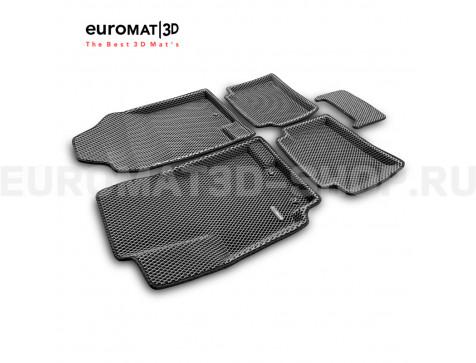 3D коврики Euromat3D EVA в салон для Hyundai Solaris (2010-2016) № EM3DEVA-002717G Серые