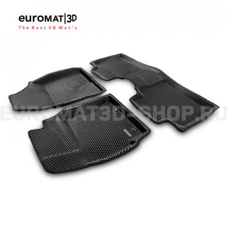 3D коврики Euromat3D EVA в салон для Toyota Corolla (2013-2018) № EM3DEVA-005128